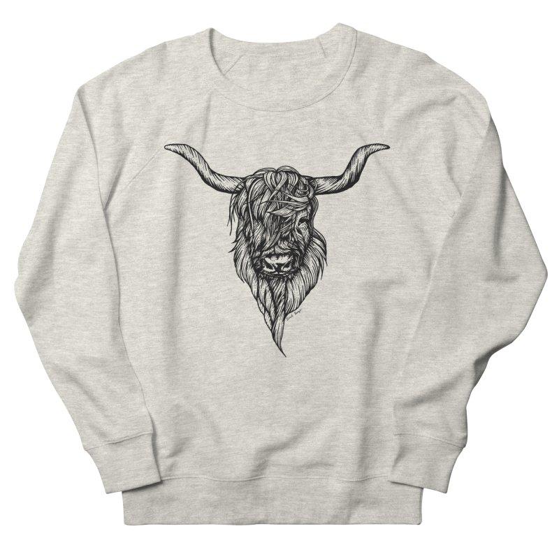 The Highland Cow Men's Sweatshirt by Black Banjo Arts