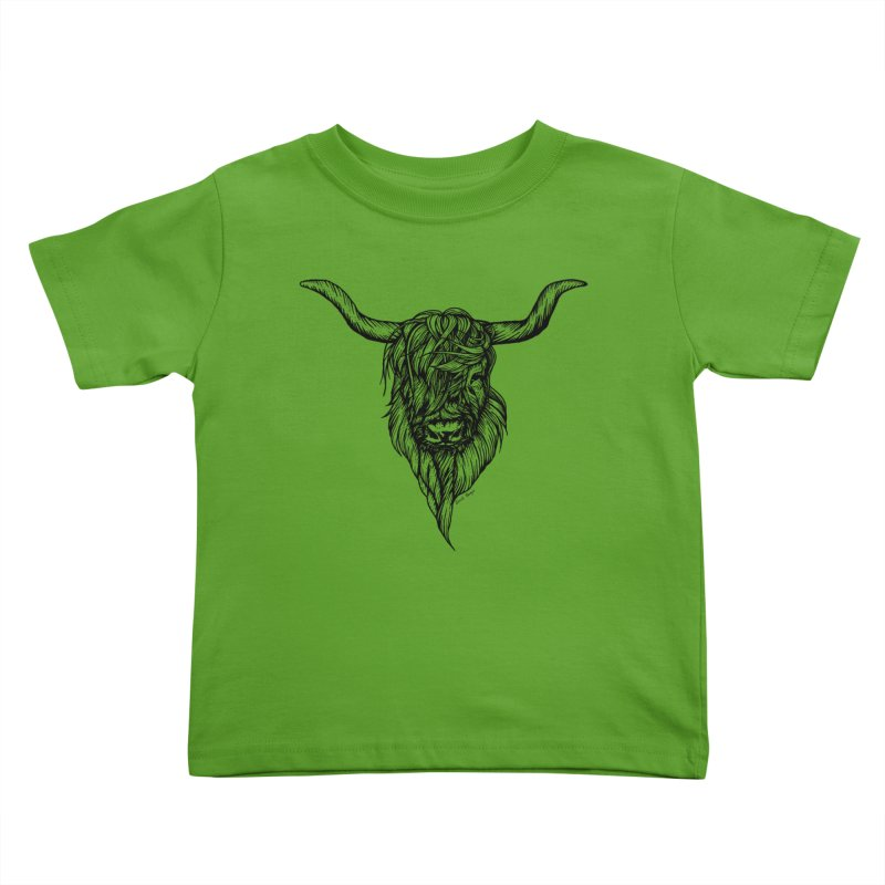 The Highland Cow Kids Toddler T-Shirt by Black Banjo Arts