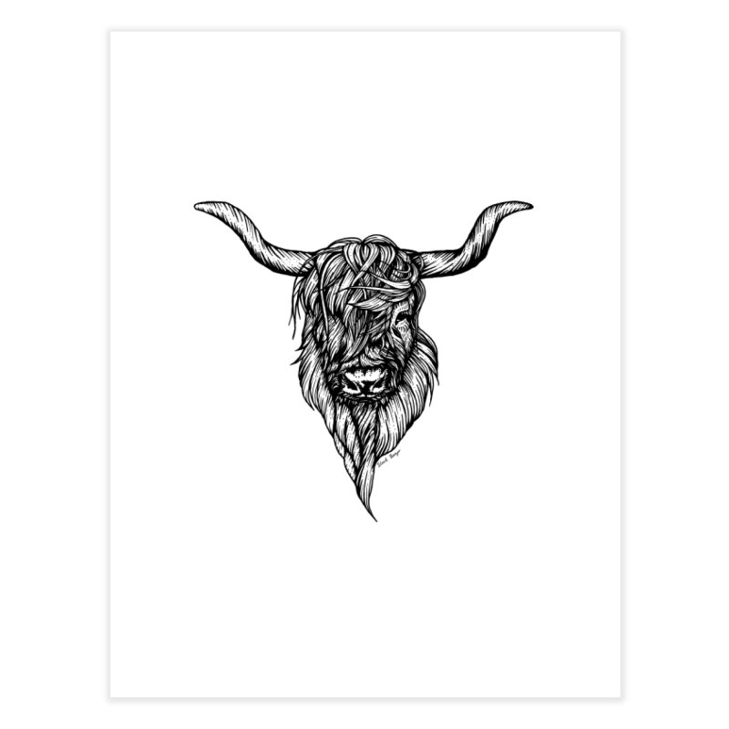 The Highland Cow Home Fine Art Print by Black Banjo Arts