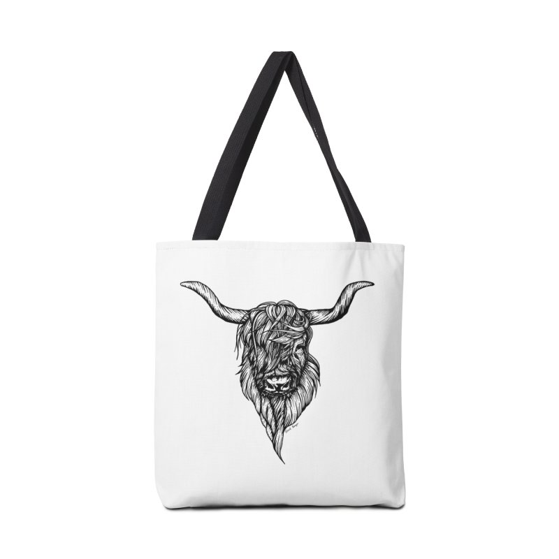The Highland Cow Accessories Tote Bag Bag by Black Banjo Arts