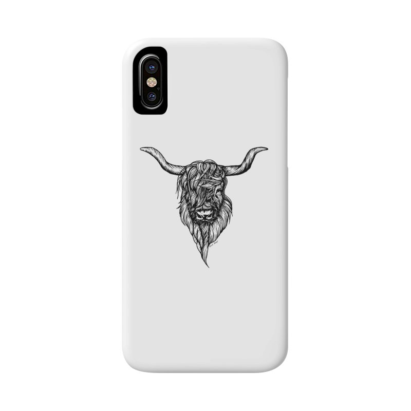 The Highland Cow Accessories Phone Case by Black Banjo Arts