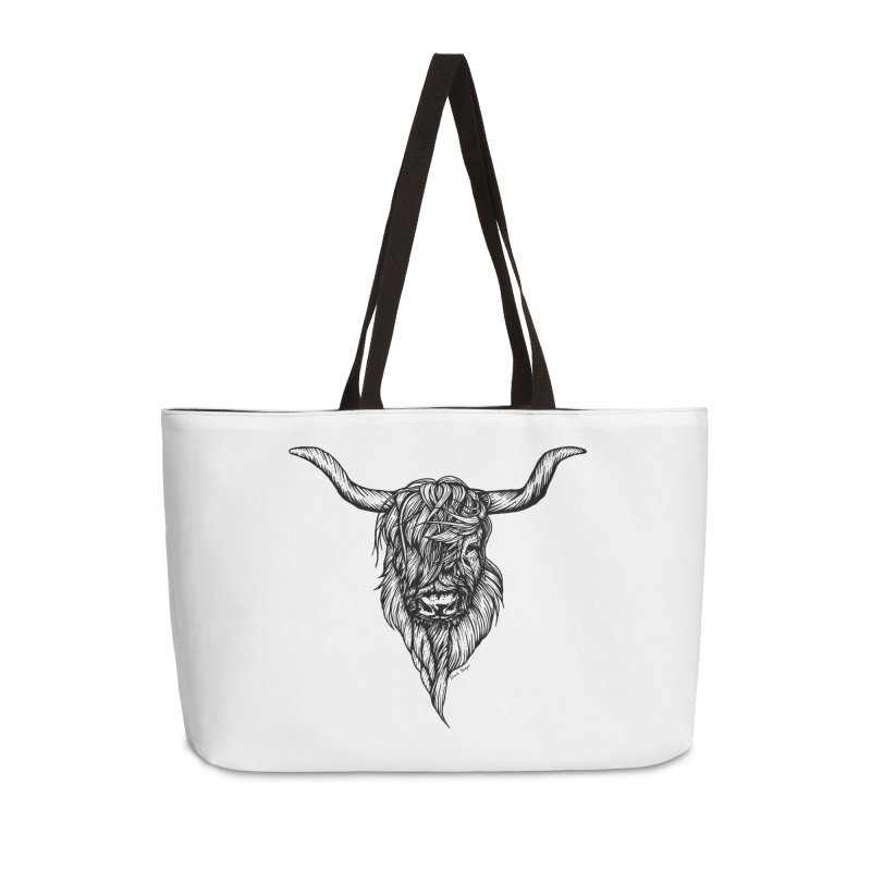 The Highland Cow Accessories Weekender Bag Bag by Black Banjo Arts