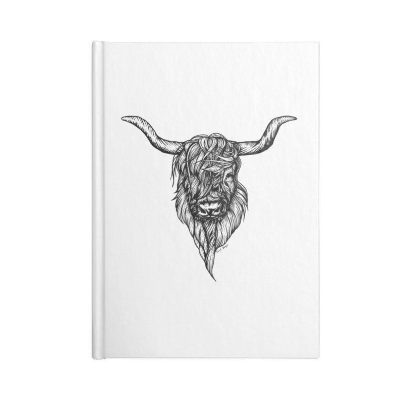 The Highland Cow Accessories Lined Journal Notebook by Black Banjo Arts