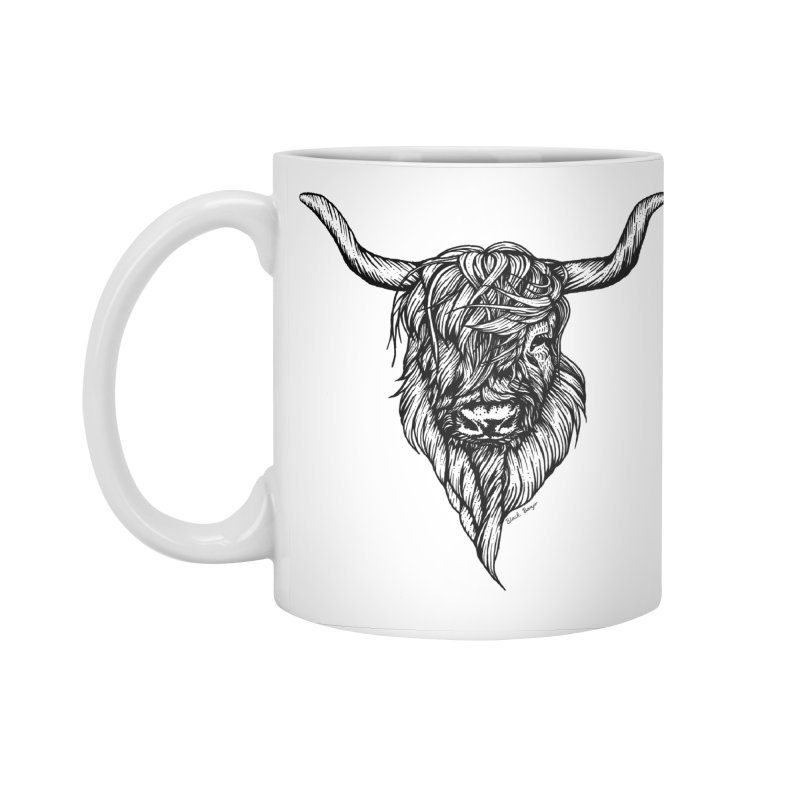 The Highland Cow Accessories Standard Mug by Black Banjo Arts