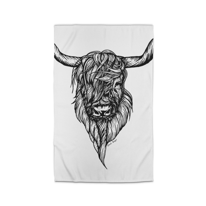 The Highland Cow Home Rug by Black Banjo Arts