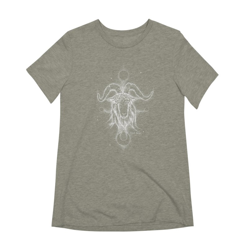 The Celestial Goat Women's Extra Soft T-Shirt by Black Banjo Arts