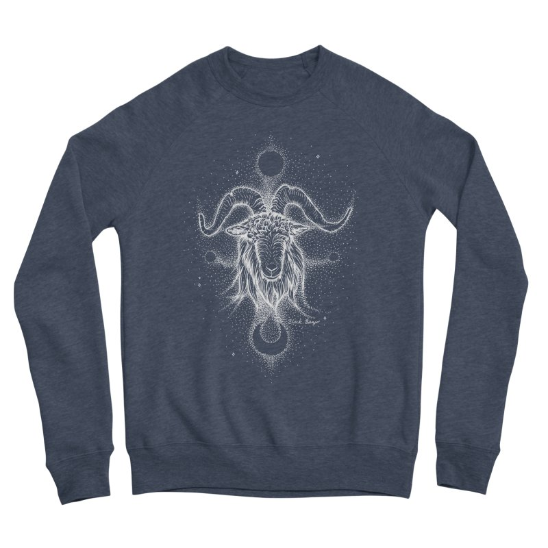 The Celestial Goat Women's Sponge Fleece Sweatshirt by Black Banjo Arts
