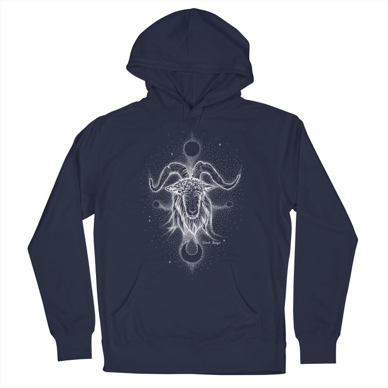 The Celestial Goat Women's French Terry Pullover Hoody by Black Banjo Arts