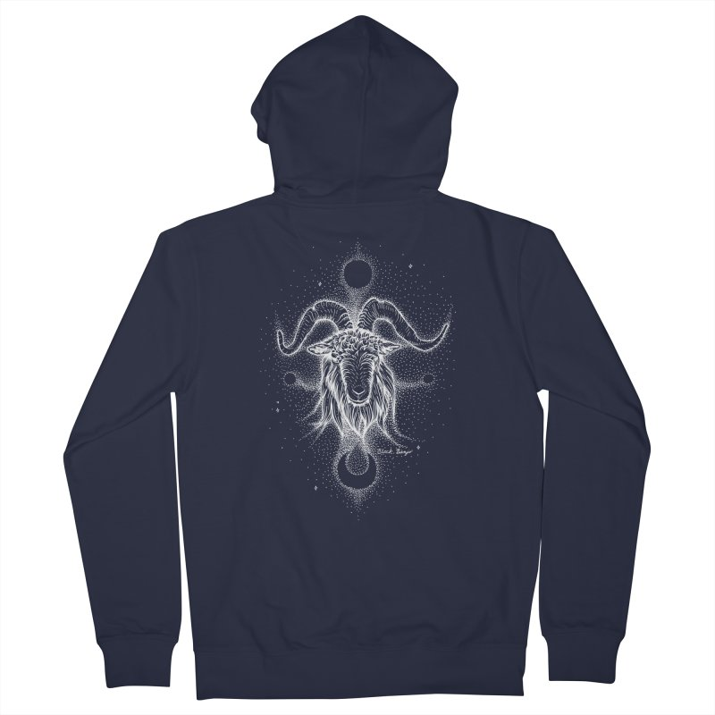 The Celestial Goat Women's Zip-Up Hoody by Black Banjo Arts