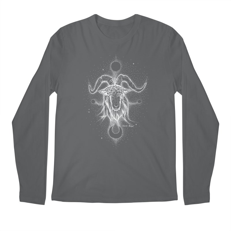 The Celestial Goat Men's Longsleeve T-Shirt by Black Banjo Arts