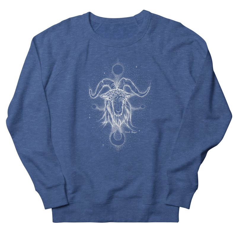 The Celestial Goat Women's French Terry Sweatshirt by Black Banjo Arts