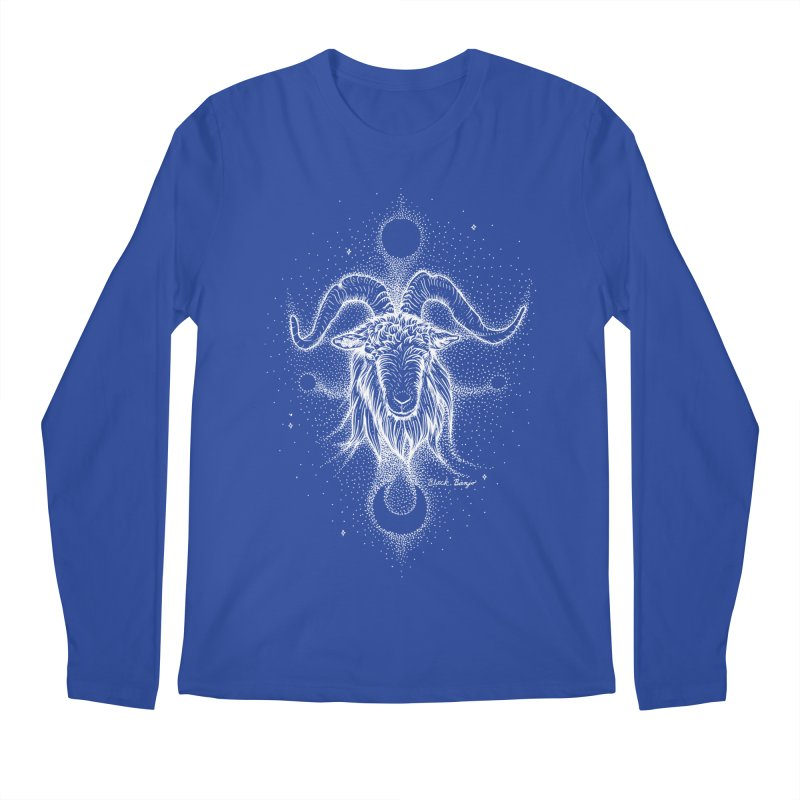 The Celestial Goat Men's Longsleeve T-Shirt by Black Banjo Arts
