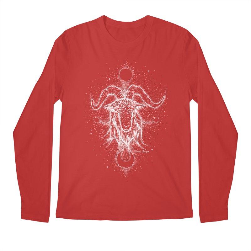 The Celestial Goat Men's Regular Longsleeve T-Shirt by Black Banjo Arts
