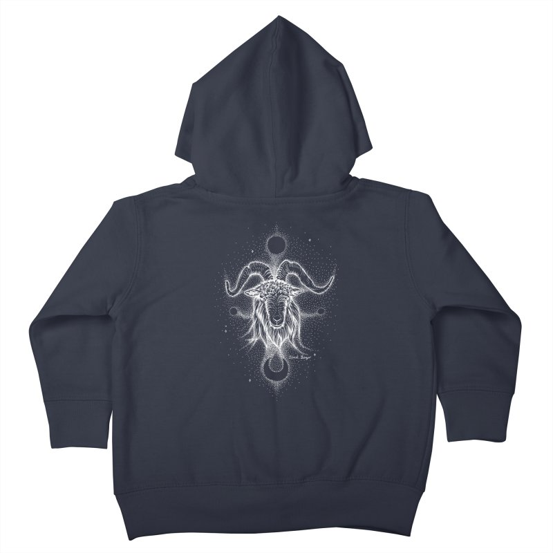The Celestial Goat Kids Toddler Zip-Up Hoody by Black Banjo Arts