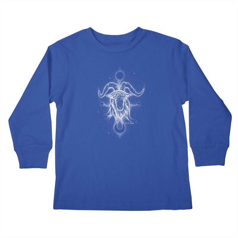 The Celestial Goat Kids Longsleeve T-Shirt by Black Banjo Arts