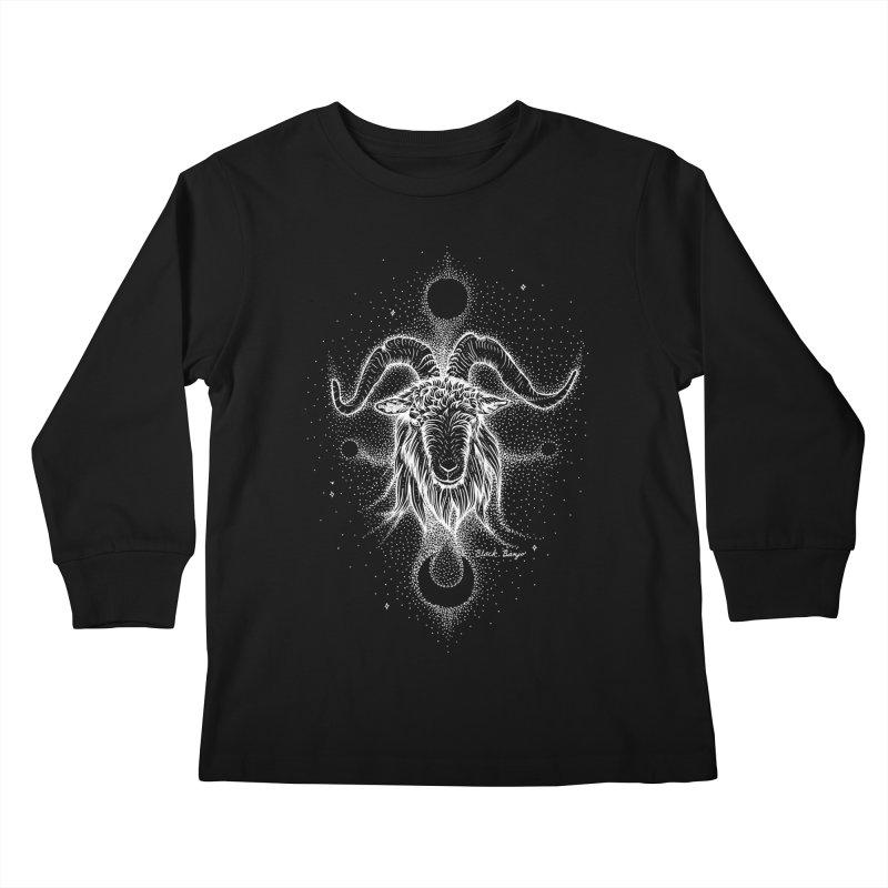 The Celestial Goat Kids Longsleeve T-Shirt by Black Banjo Arts