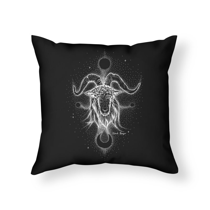The Celestial Goat Home Throw Pillow by Black Banjo Arts