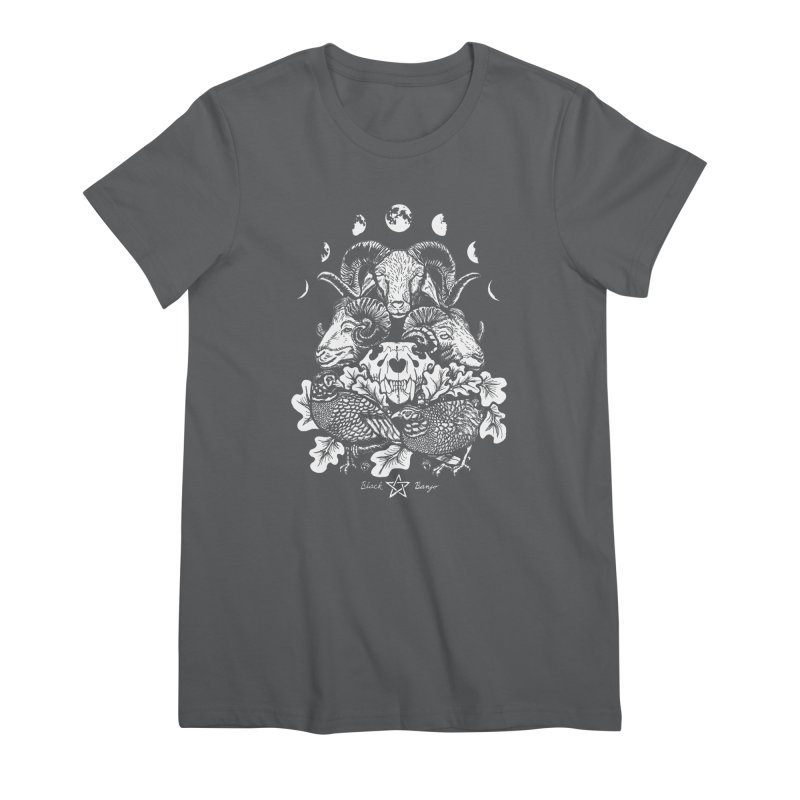 The Ram and The Oak Women's Premium T-Shirt by Black Banjo Arts