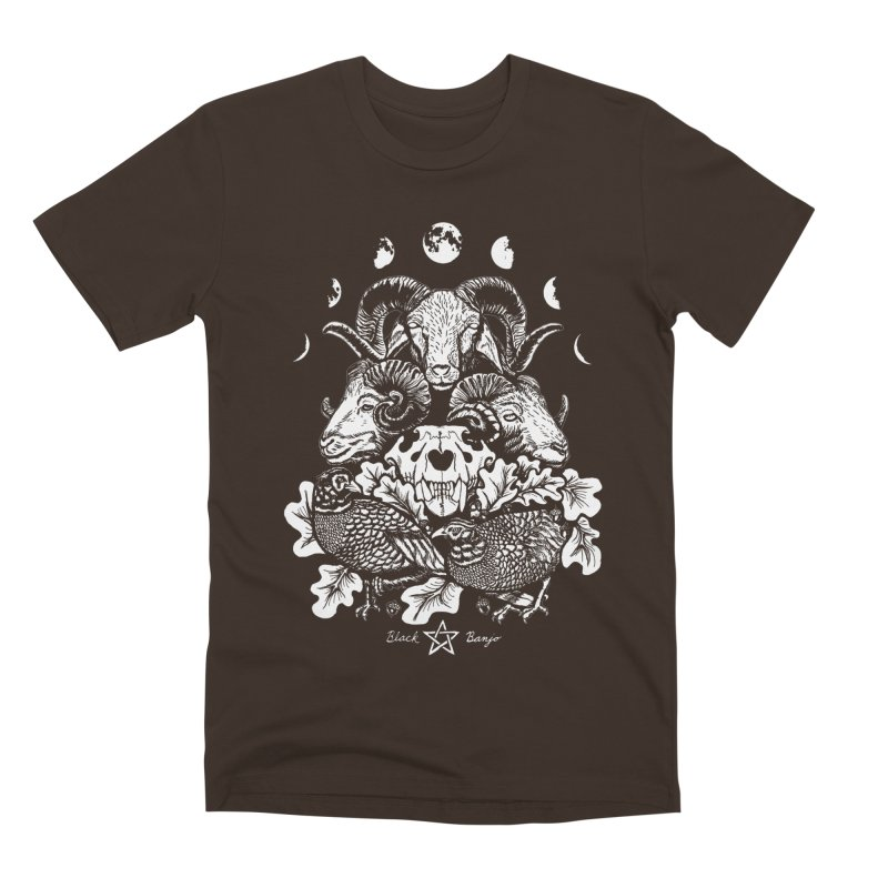 The Ram and The Oak Men's Premium T-Shirt by Black Banjo Arts