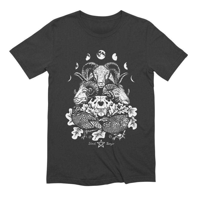 The Ram and The Oak Men's Extra Soft T-Shirt by Black Banjo Arts