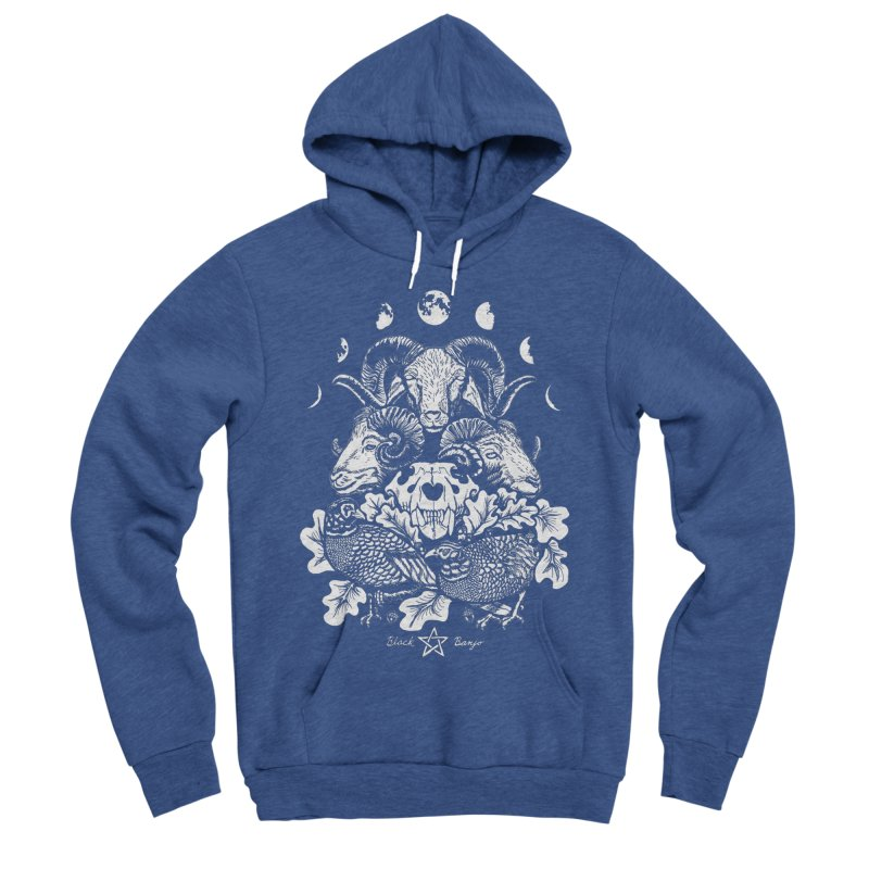 The Ram and The Oak Men's Sponge Fleece Pullover Hoody by Black Banjo Arts