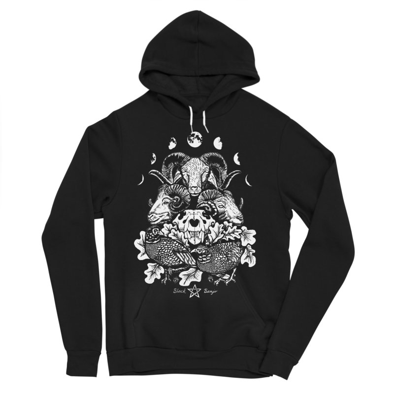 The Ram and The Oak Women's Sponge Fleece Pullover Hoody by Black Banjo Arts
