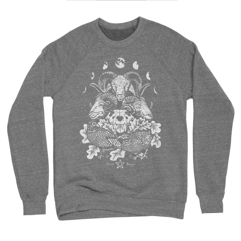 The Ram and The Oak Men's Sponge Fleece Sweatshirt by Black Banjo Arts