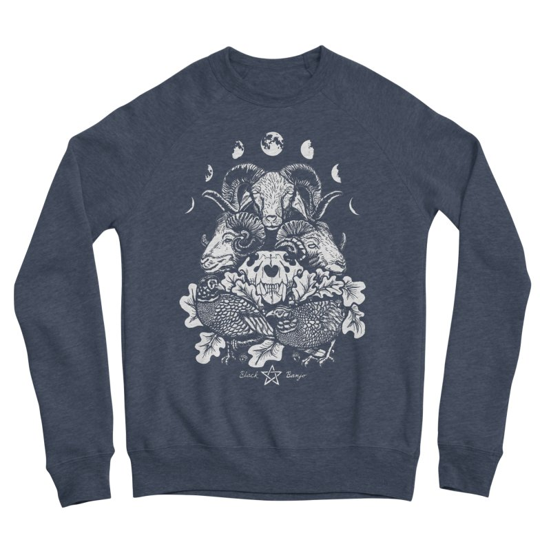 The Ram and The Oak Men's Sponge Fleece Sweatshirt by Black Banjo Arts