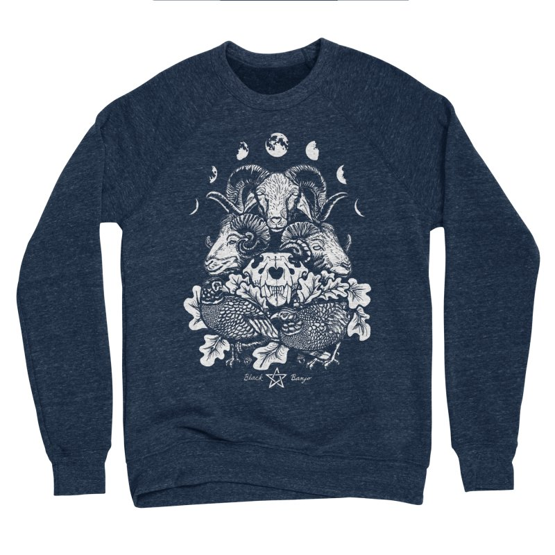 The Ram and The Oak Women's Sponge Fleece Sweatshirt by Black Banjo Arts