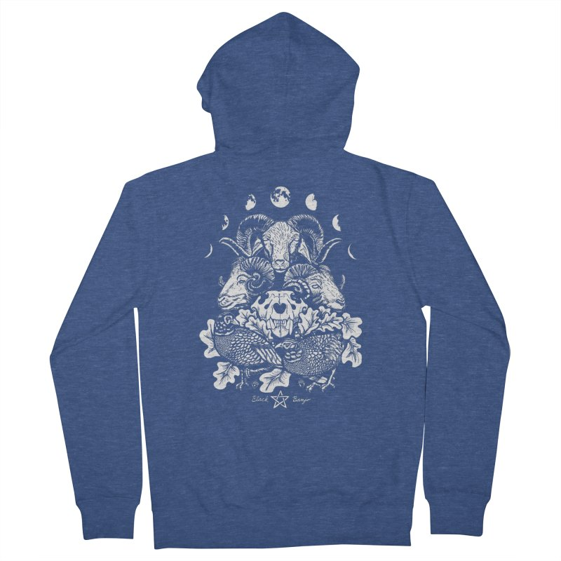 The Ram and The Oak Men's Zip-Up Hoody by Black Banjo Arts