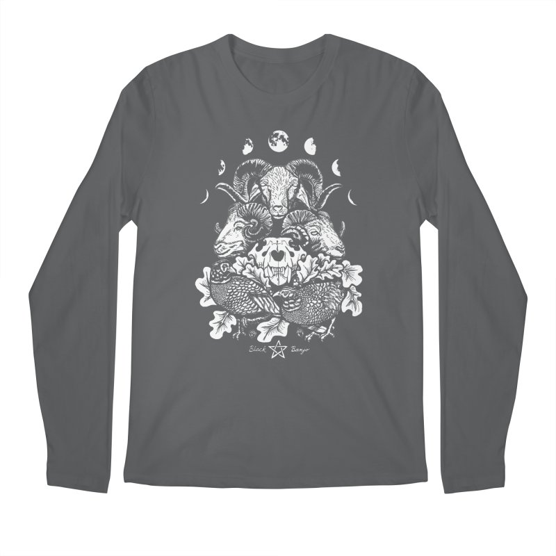 The Ram and The Oak Men's Longsleeve T-Shirt by Black Banjo Arts