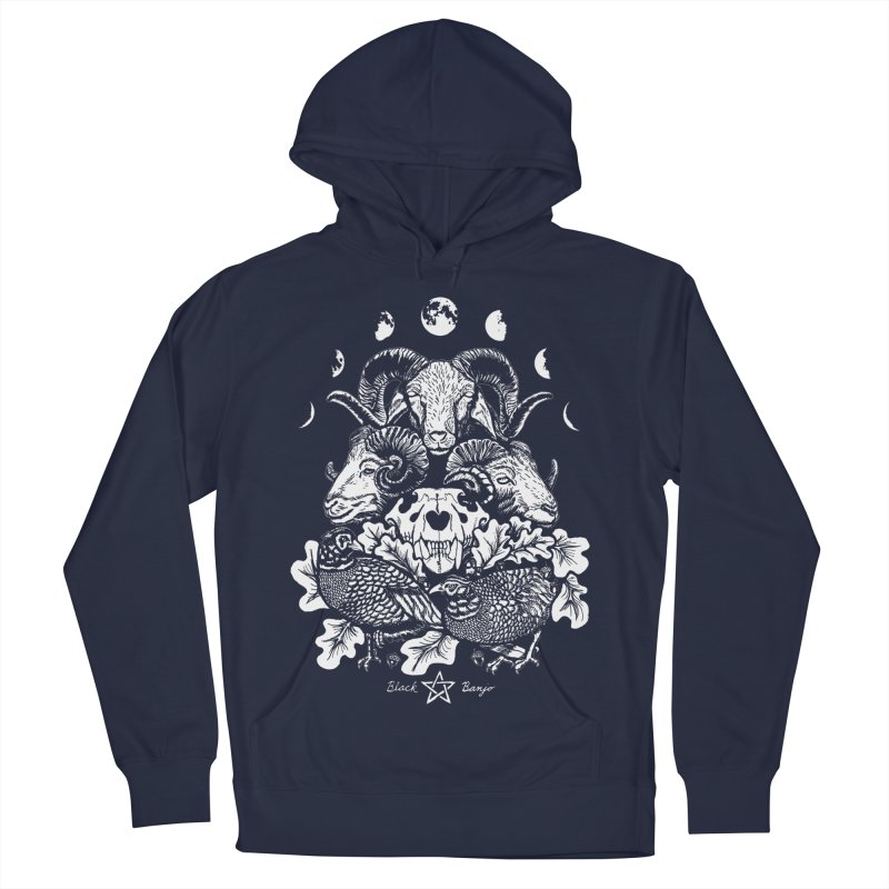 The Ram and The Oak Women's French Terry Pullover Hoody by Black Banjo Arts