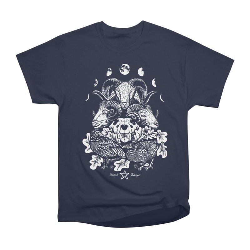 The Ram and The Oak Women's Heavyweight Unisex T-Shirt by Black Banjo Arts