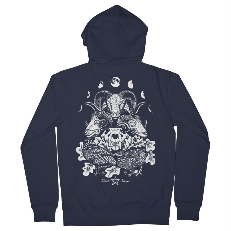 The Ram and The Oak Women's Zip-Up Hoody by Black Banjo Arts