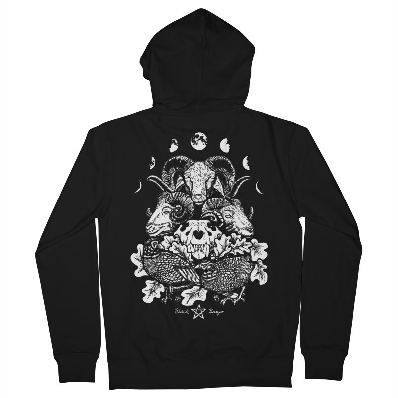 The Ram and The Oak Men's French Terry Zip-Up Hoody by Black Banjo Arts