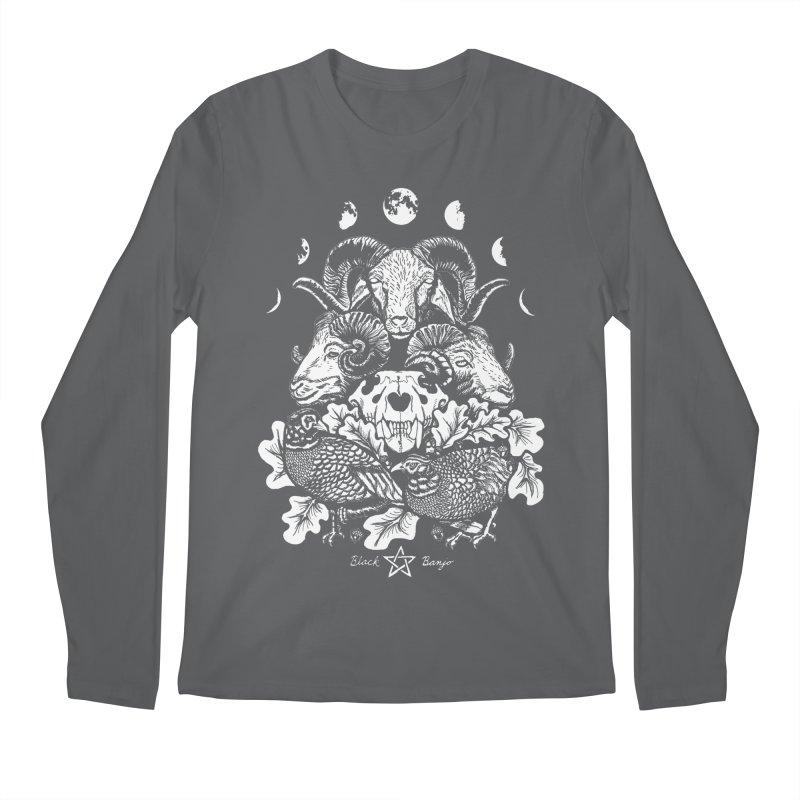 The Ram and The Oak Men's Regular Longsleeve T-Shirt by Black Banjo Arts