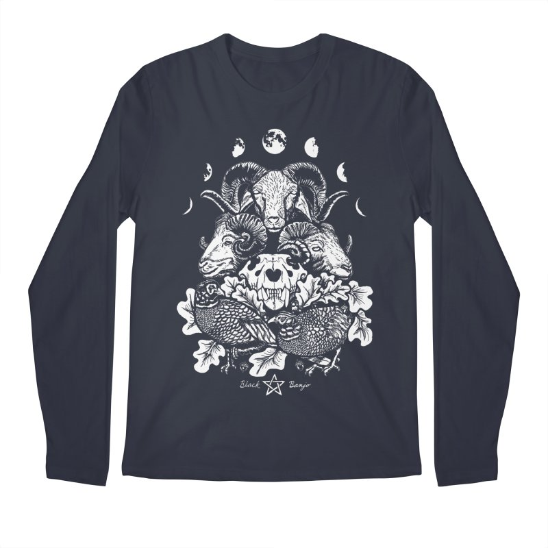 The Ram and The Oak Men's Regular Longsleeve T-Shirt by Black Banjo Arts