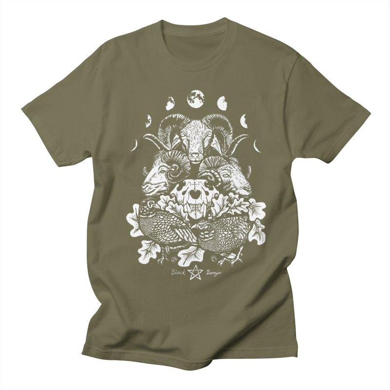 The Ram and The Oak Men's Regular T-Shirt by Black Banjo Arts