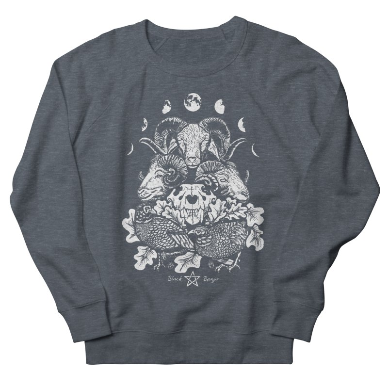 The Ram and The Oak Men's French Terry Sweatshirt by Black Banjo Arts