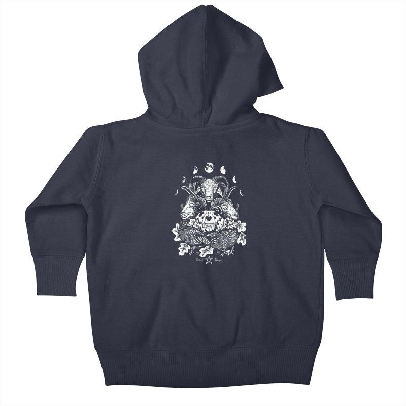 The Ram and The Oak Kids Baby Zip-Up Hoody by Black Banjo Arts