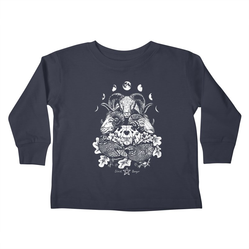 The Ram and The Oak Kids Toddler Longsleeve T-Shirt by Black Banjo Arts