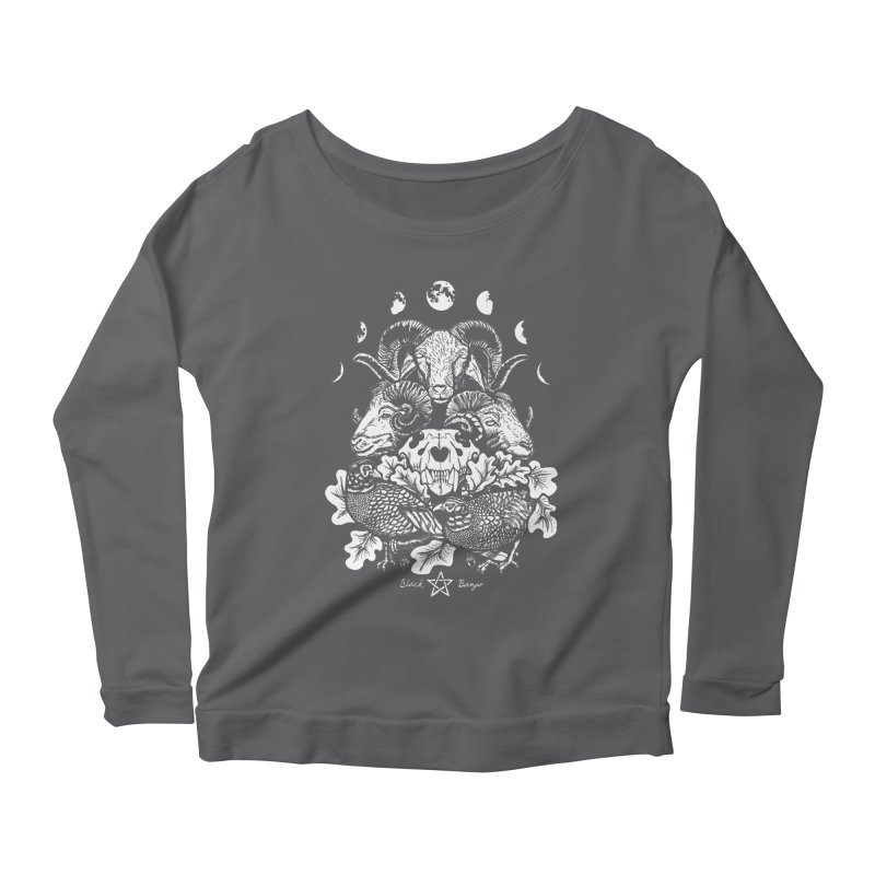 The Ram and The Oak Women's Scoop Neck Longsleeve T-Shirt by Black Banjo Arts