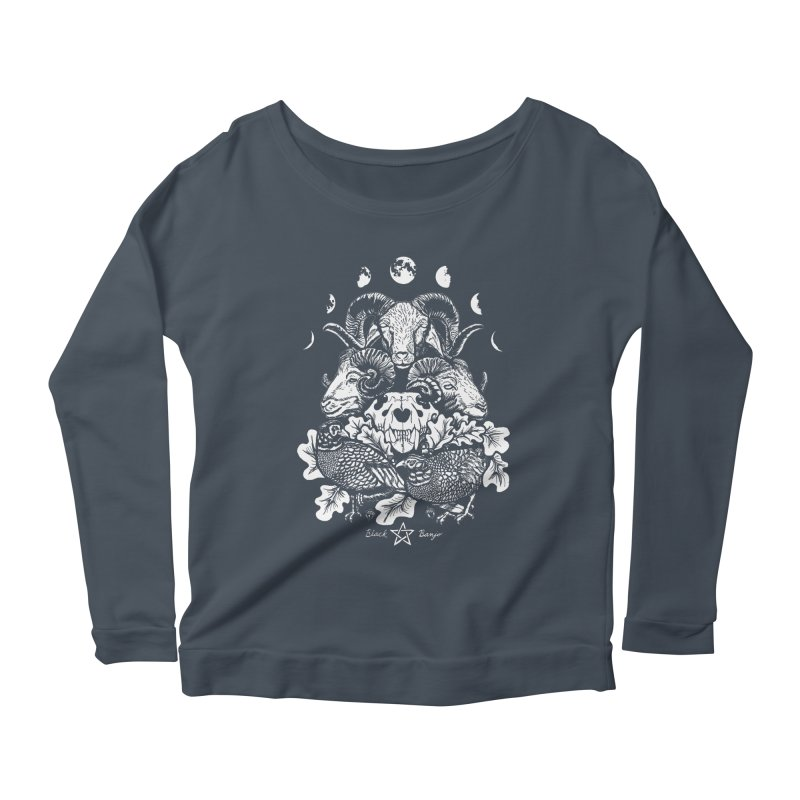 The Ram and The Oak Women's Scoop Neck Longsleeve T-Shirt by Black Banjo Arts