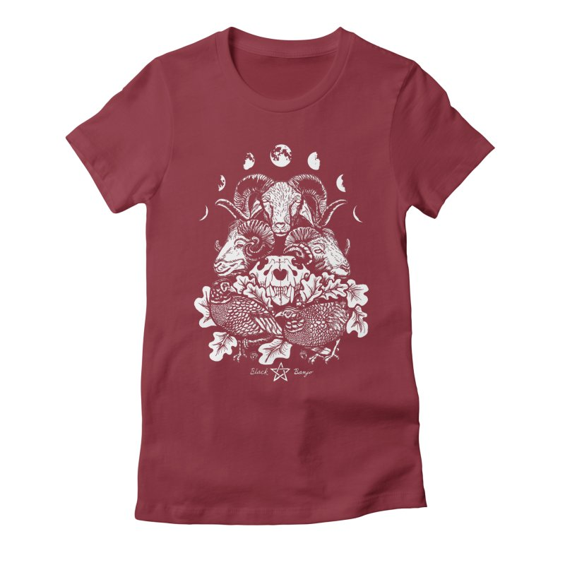 The Ram and The Oak Women's Fitted T-Shirt by Black Banjo Arts