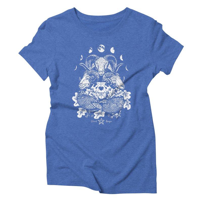 The Ram and The Oak Women's Triblend T-Shirt by Black Banjo Arts