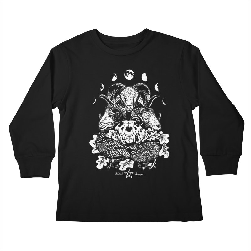 The Ram and The Oak Kids Longsleeve T-Shirt by Black Banjo Arts