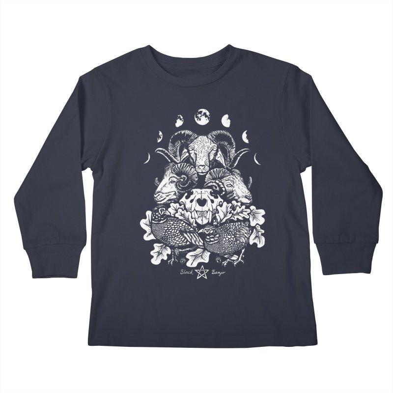 The Ram and The Oak Kids Longsleeve T-Shirt by Black Banjo Arts