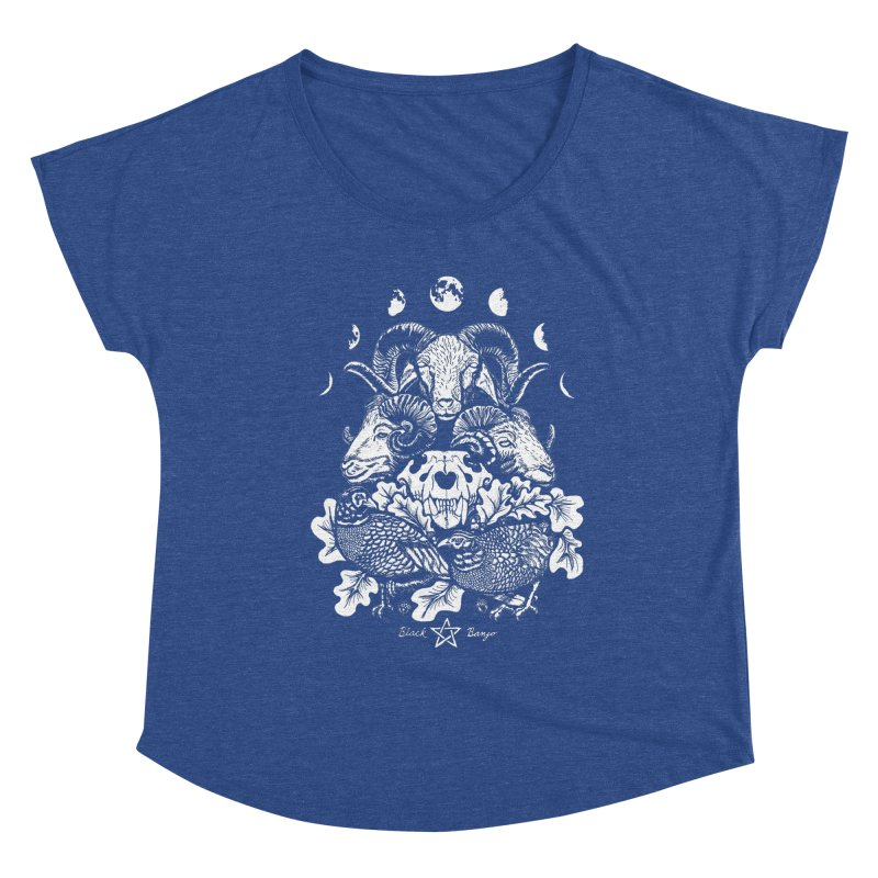 The Ram and The Oak Women's Scoop Neck by Black Banjo Arts