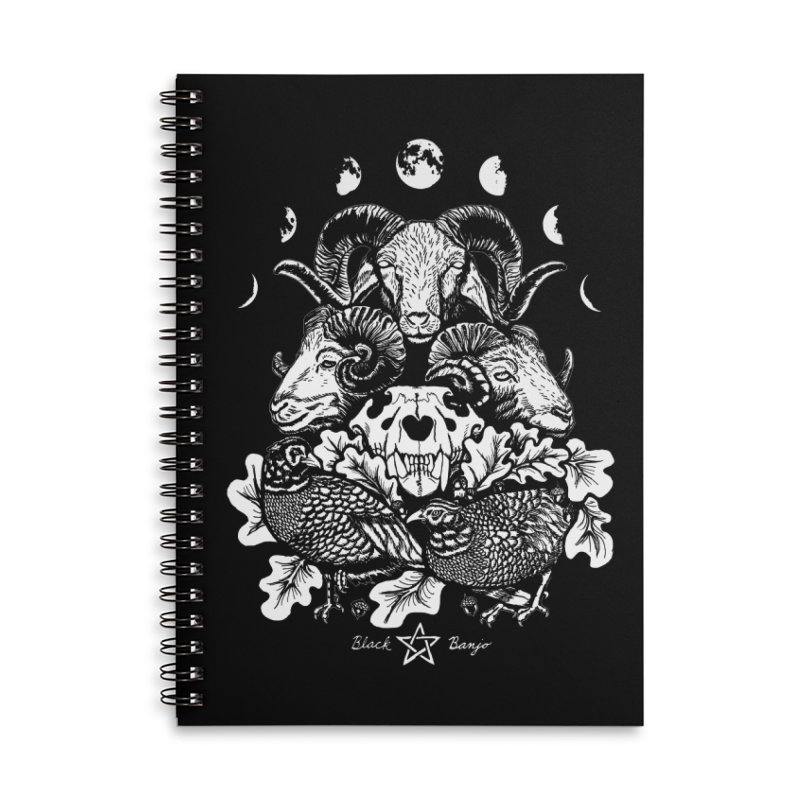 The Ram and The Oak Accessories Lined Spiral Notebook by Black Banjo Arts