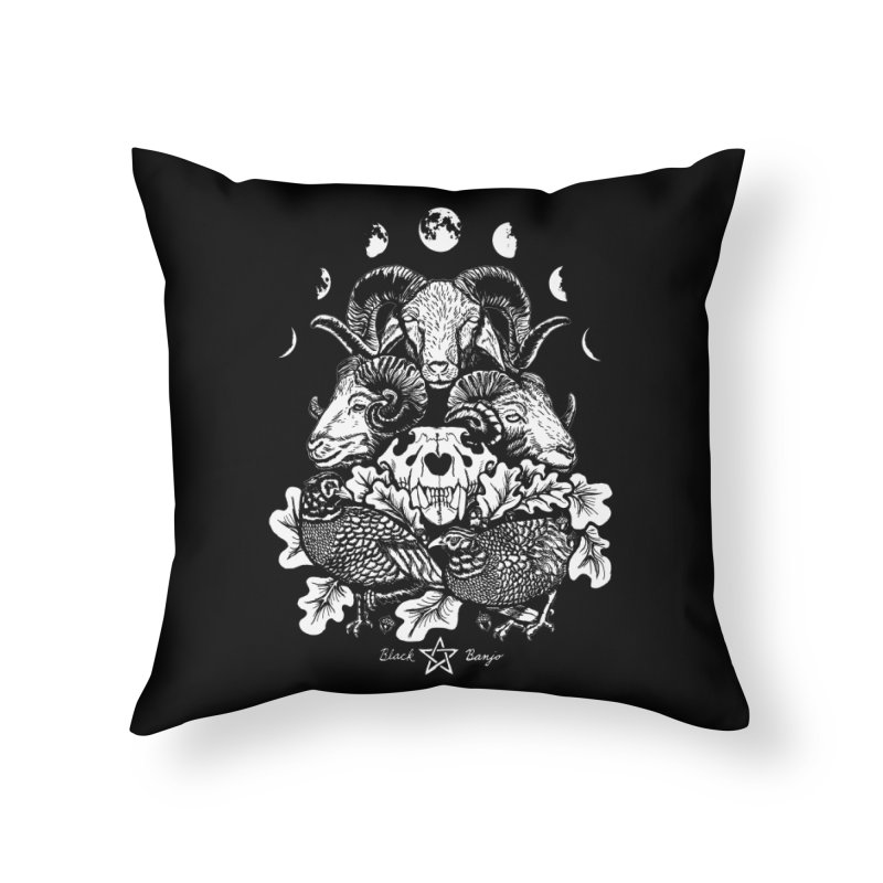 The Ram and The Oak Home Throw Pillow by Black Banjo Arts